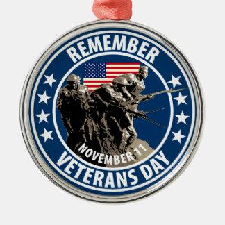 Remember Veterans Day Christmas Ornament