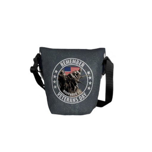 Remember Veterans Day Courier Bag