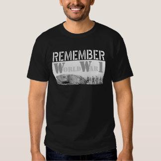 Remember World War 1 Tshirts