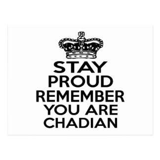 REMEMBER YOU ARE CHADIAN POSTCARD