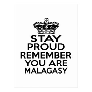 REMEMBER YOU ARE MALAGASY POSTCARD