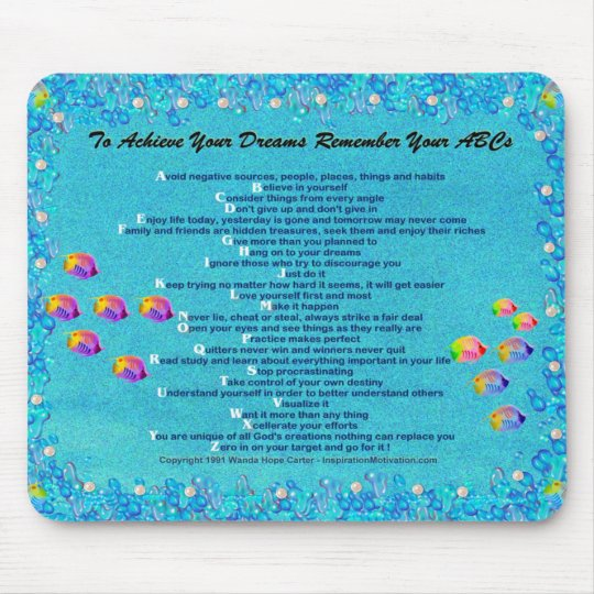 """... Remember Your ABCs"" underwater scene Mousepad"
