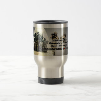 Rememberance Day now and then Travel Mug
