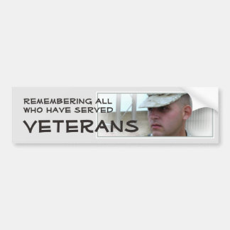 Remembering All Who Have Served Vet Bumper Sticker