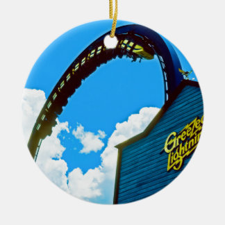 Remembering Astro World Amusement Park Round Ceramic Decoration