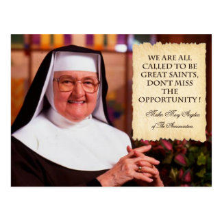 REMEMBERING MOTHER ANGELICA. POSTCARD