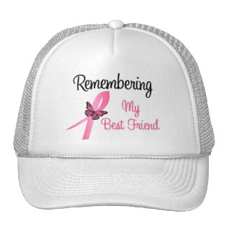 Remembering My Best Friend Breast Cancer Awareness Trucker Hats