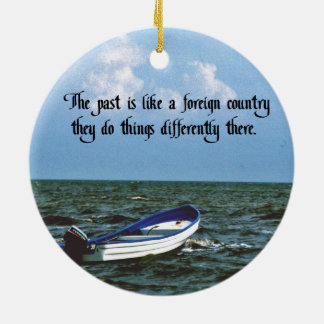 Remembering the past Double-Sided ceramic round christmas ornament