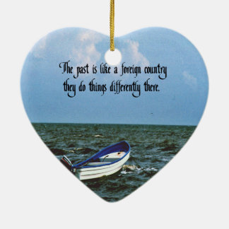 Remembering the past Inspirational Quote Ceramic Heart Decoration
