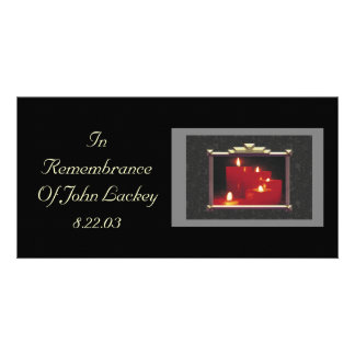 Remembrance Candles & Vines Custom Photo Card