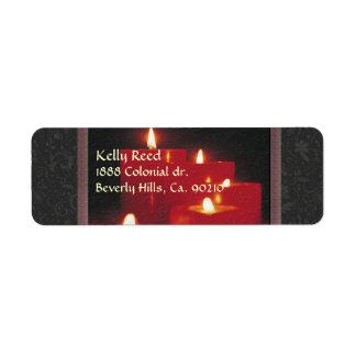 Remembrance Candles & Vines Return Address Label