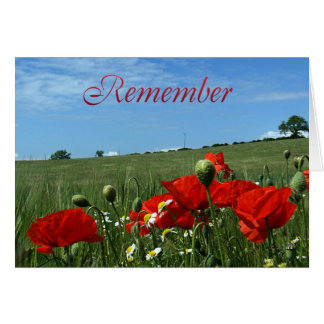 Remembrance Day Poppy Field Greeting Card