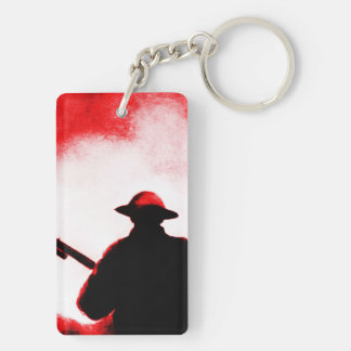REMEMBRANCE DAY,TROOPS,PAST/PRESENT Double-Sided RECTANGULAR ACRYLIC KEY RING
