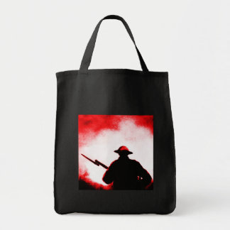 REMEMBRANCE DAY,TROOPS,PAST/PRESENT GROCERY TOTE BAG