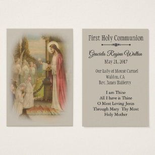Catholic business cards business card printing zazzle uk remembrance holy card child first holy communion colourmoves