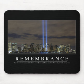 Remembrance: Inspirational Quote Mouse Mat