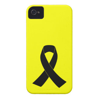 Remembrance, Mourning Black Awareness Ribbon iPhone 4 Case-Mate Cases