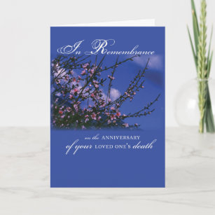 Of death anniversary cards zazzle remembrance on anniversary card m4hsunfo