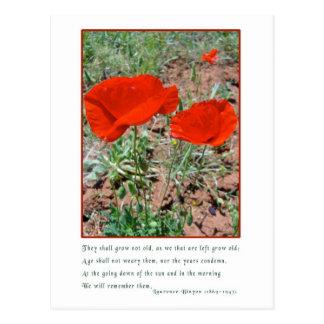 Remembrance Postcards