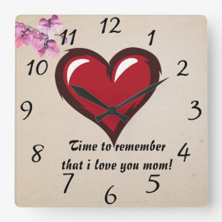 Reminder love mom wallclock