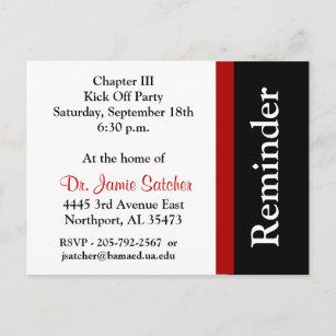 Party reminders cards invitations zazzle reminder post card5 invitation postcard stopboris Image collections