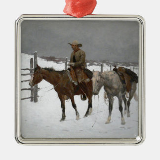Remington - The Fall of the Cowboy Christmas Ornament