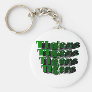 Remington TIGERS Vertical Basic Round Button Key Ring