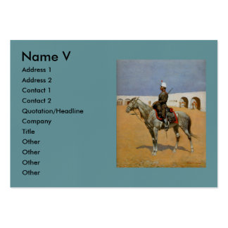 Remington's Cavalryman of the Line, Mexico (1889) Pack Of Chubby Business Cards