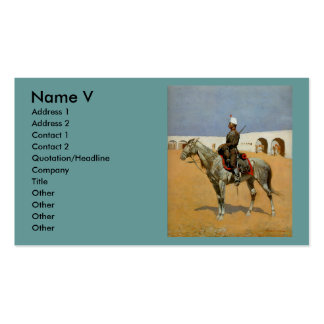 Remington's Cavalryman of the Line, Mexico (1889) Pack Of Standard Business Cards