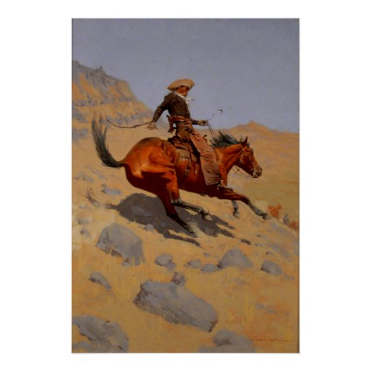 Remington's The Cowboy 1902 Poster