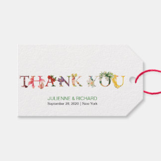 "Reminiscence   Modern Wedding ""thank you"" tag"