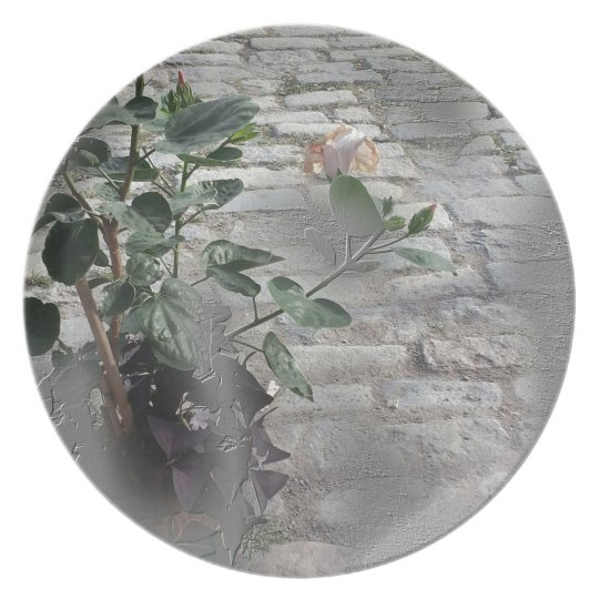 Reminiscent Rose Plate