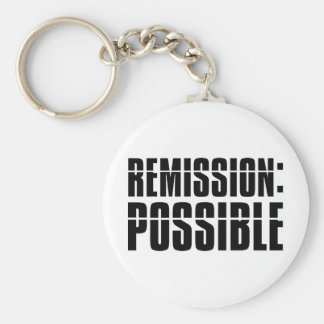 Remission Possible Basic Round Button Key Ring