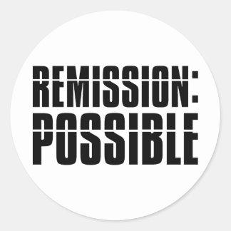 Remission Possible Round Sticker