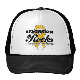 Remission Rocks - Appendix Cancer Awareness Cap