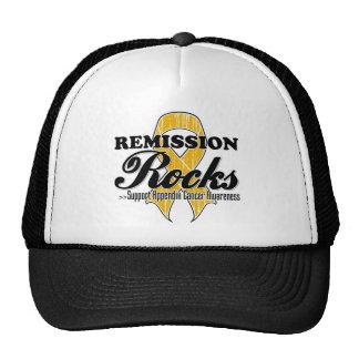 Remission Rocks - Appendix Cancer Awareness Hat