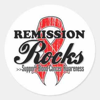 Remission Rocks - Blood Cancer Awareness Round Sticker