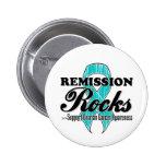Remission Rocks - Ovarian Cancer Awareness Pins