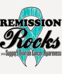 Remission Rocks - Ovarian Cancer Awareness T-shirts