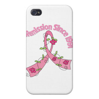 Remission Since 1991 Breast Cancer iPhone 4/4S Cover