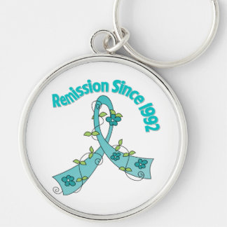Remission Since 1992 Ovarian Cancer Key Chains