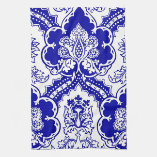 Remixed German Gothic design, in blue Towels