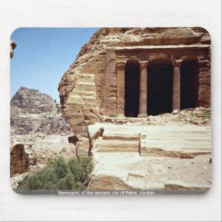 Remnants of the ancient city of Petra, Jordan Mouse Mat
