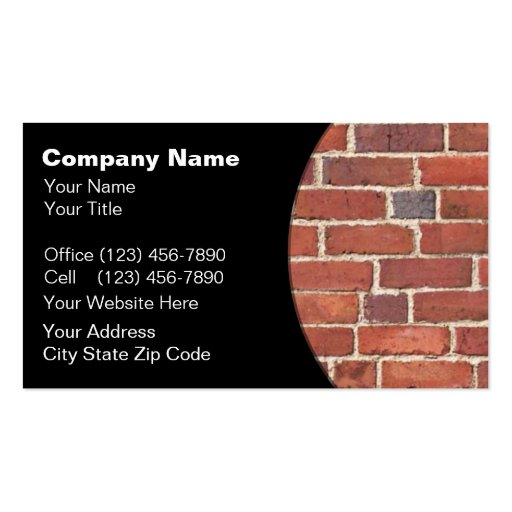Brick Laying Business Cards Brick Laying Business Card
