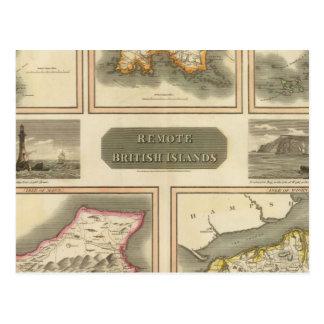 Remote British islands Postcard