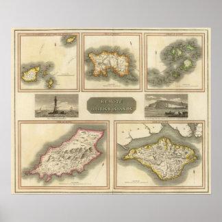 Remote British islands Poster