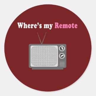 Remote Control Round Sticker