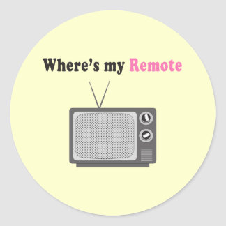 Remote Control Round Stickers