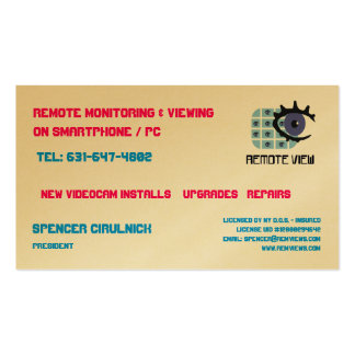 Remote View Biz Cards Pack Of Standard Business Cards
