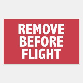 Remove Before Flight Rectangular Sticker